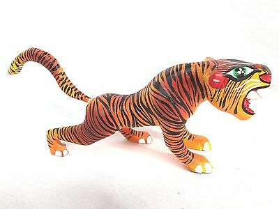 Fabulous  Hand Painted Tiger Wood Carving (Alebrije) - Oaxaca, Mexico