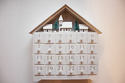 Christmas Wooden Advent Calendar Light up House -  : RRP: £49.95*  Now £24.95