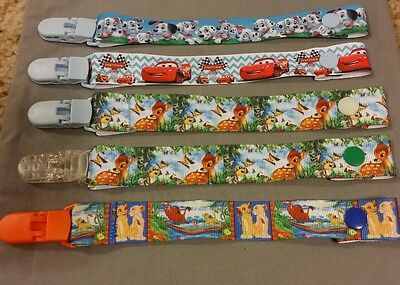 Dummy Clip Bambi, Lion King, Dogs, Cars, Elephant, Mickey Mouse Baby Boys