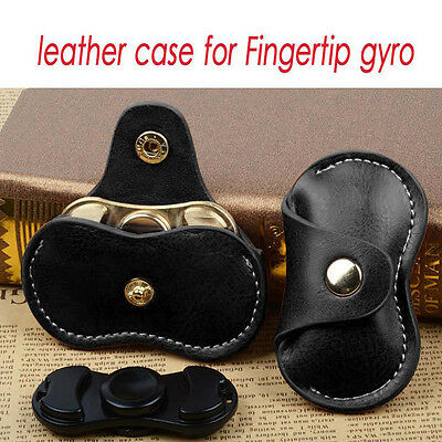 Leather Bag Box Case Gift For Fidget Hand Spinner Finger Toy Focus ADHD Autism