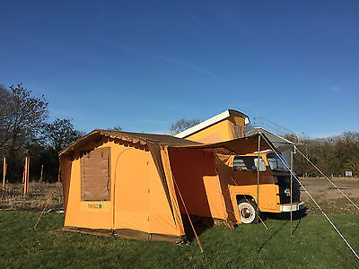 NLA Vintage Driveaway Awning VW Campervan Bus Caravan Yellow/Brown Roof C9462
