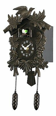 Acctim Hamburg Cuckoo Pendulum Wall Clock Animated Cuckoo Pops Out