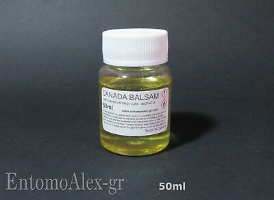 CANADA BALSAM FIR GUM mounting medium 50ml JAR balsamo ottica CEMENTING LENSES