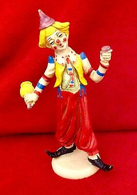 """Vintage Made in Italy 8"""" Boozer Clown, Plastic"""