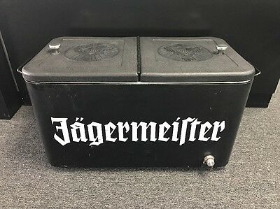 """Jagermeister Ice Chest Black RARE Collector's Item 25"""" X 15"""" X 12"""""""