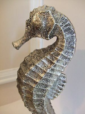 """Seahorse Statue on Stand 12.5""""T """"Beach Decor"""""""