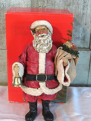 Clothtique POSSIBLE DREAMS Christmas Santa with Bell Bell Ringer Santa 713038