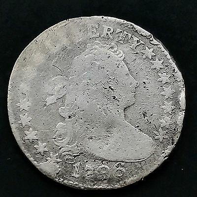 1796 Draped Bust Dime 10c very rare FIRST YEAR VG details RARE  #4139