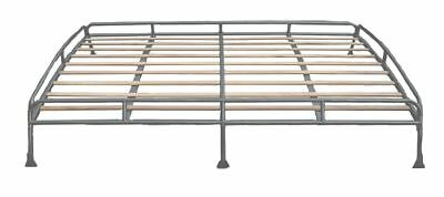 Silver Powder 1.8m Coated Steel Roof Rack for T2 Bay Solid Beech Slats C9067P