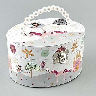 Oval Fairy Unicorn Musical Jewellery Trinket Box by Floss and Rock Girls Gift