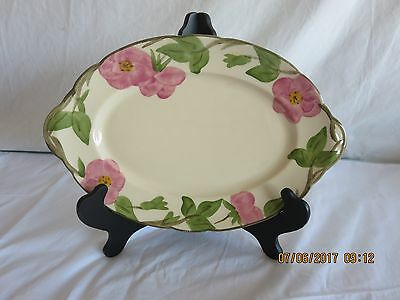 "Franciscan Desert Rose 12"" Serving Platter Vintage Johnson Bros Stamp Mark"