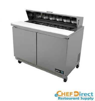 "Asber APTS-48-12 48"" Two Door 12 Pan Sandwich / Salad Prep Table"