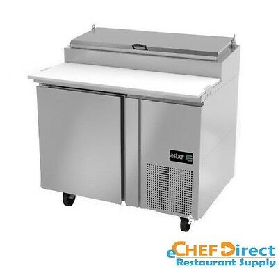 "Asber APTP-46 46"" One Door 6 Pan Pizza Prep Table"