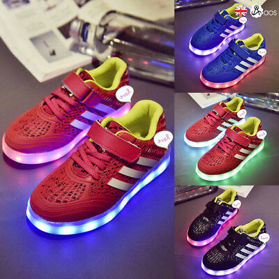 LED Light UP Shoes Trainers Men Women Boys' Girl' USB Line Casual Sneakers