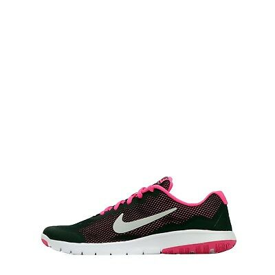 Nike Flex Experience 4 Junior Youth Girls Older Kids Running Shoes Black/Pink