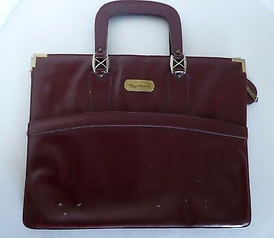 Etienne Aigner Burgundy Red Leather Briefcase Attache Bag