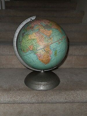 Vintage Weber Costello Co. Table/desktop World Globe On Stand