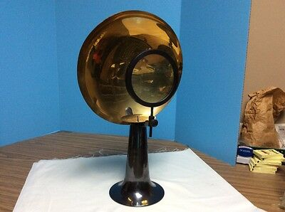 Vintage Parabolic Medical Magnifier Candle Holder With Magnifying Lens