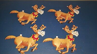 (VTG) 1960s Hamm's beer bear vacuform plastic for reindeers display sign rare