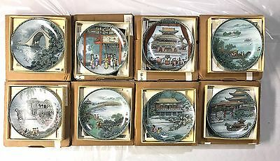 Complete Set of 8 Plates Imperial Jingdezhen Scenes from the Summer Palace plate