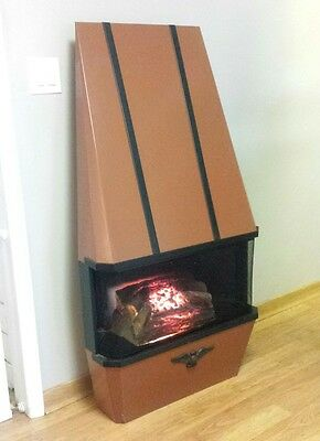 Vintage Electric Fireplace Heater Sears Mid Century Modern Retro Wall Hanging