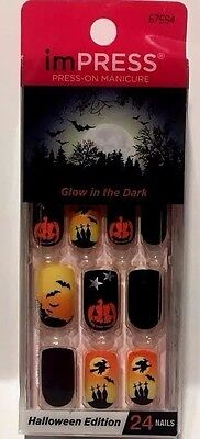 Impress Press-on Manicure Glow in the Dark Halloween Edition Nails