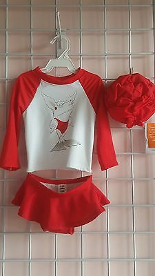 toddler swimsuit, olivia, gymboree, 3 piece swimwear,  red, cute, adorable, gift