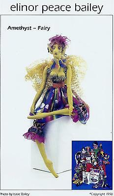 "Amethyst Fairy 37"" soft sculpture doll making sewing pattern Elinor Peace Bailey"