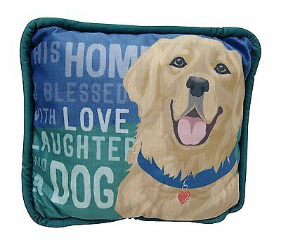 "Golden Retriever Accent Pillow - ""This Home is Blessed with Love..."" - Brand NEW"
