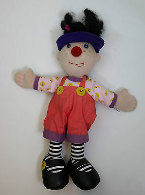 """Loonette The Clown Vtg Molly Big Comfy Couch PBS 20"""" Doll Plush"""