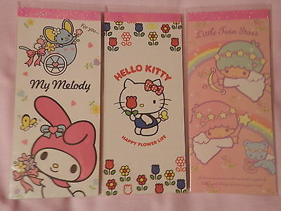 Sanrio Long Memo Pads - 36 Sheets - 2 Designs to choose from! - Brand New!