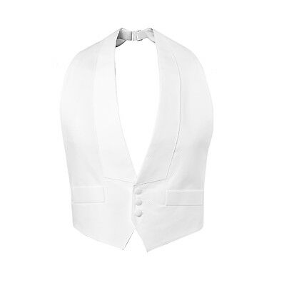 White Pique Vest Tails Debutante Best Quality Self Tie Bow Adj. XS S M L XL XXL