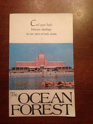 The Ocean Forest Hotel Myrtle Beach Rate Schedule Labor Day 1974 RARE!