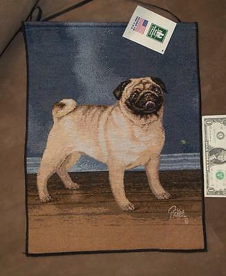Pug Tapestry Bannerette by Linda Pickens