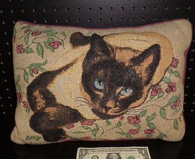 Calico Cat Tapestry Pillow by Linda Pickens