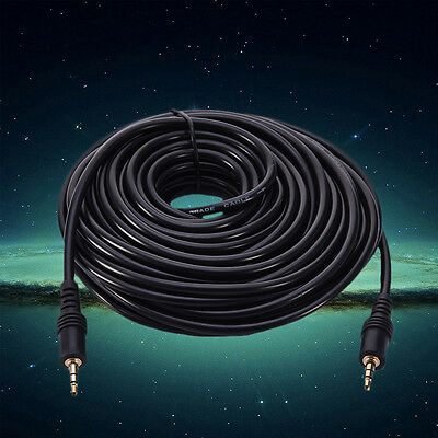 3.5 mm Male to Male M/M Jack Audio Stereo Aux Cable Cord Lead PC MP3 DVD Black
