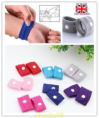 2/4x Anti Nausea Morning Sickness Motion Travel Wrist Bands Gift Family Friends
