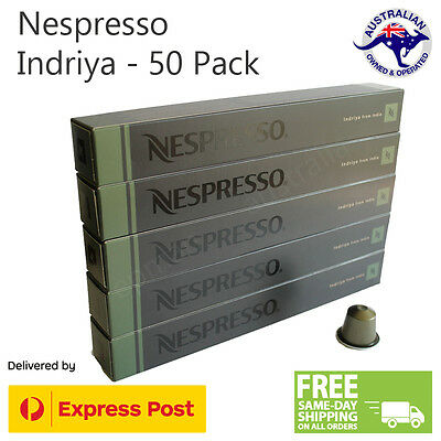 50 Pods Nespresso Indriya Coffee from India Capsules Intensity 10