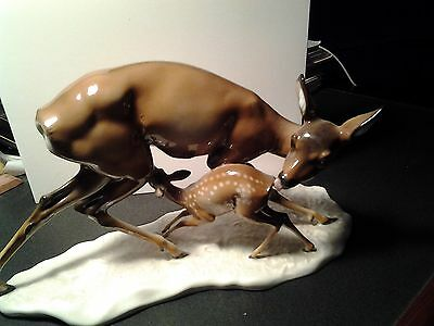 Signed Rosenthal Doe & Fawn