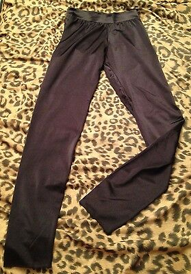 vintage LENNY NYC shiny black spandex LEGGINGS - skin tight - ROCKSTAR