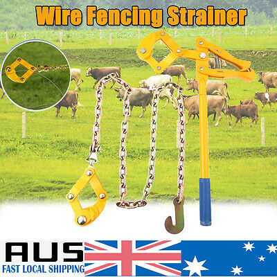 Swivel Fence Wire Chain Strainer Electric Barb Fence Tensioner Pull Repair Tool