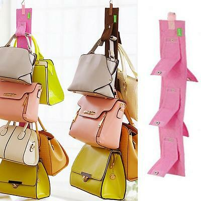 Handbag Bag Rack Holder Organizer Door Straps Hanger 5 Hook Hanging Organizer EQ