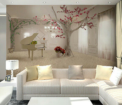 3D Piano picture art 1105 Wall Paper Wall Print Decal Wall Deco AJ WALLPAPER