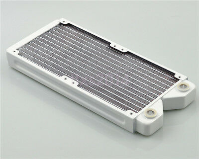 240mm White Pure Copper Water Cooling Radiator G1/4 for PC Linquid Water Cooling