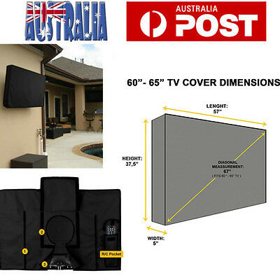 65 Inch TV Cover Flat Television Outdoor Patio Waterproof Dustproof Protector AU