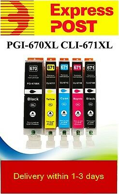 10 Canon Pixma Printer Ink Cartridges PGI 670XL CLI 671XL MG5760 MG5765 TS8060