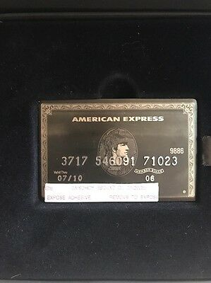 Authentic American Express AMEX Centurion Black Card (expired) With Original Box