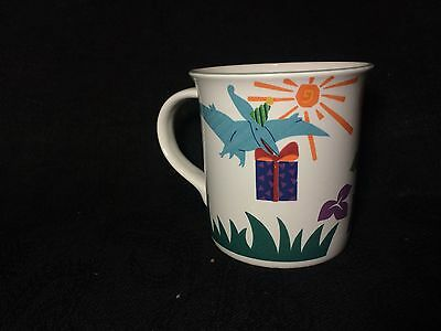 Discontinued Mikasa Dino & Friends Dinosaur replacement Cup Mug Kids Art