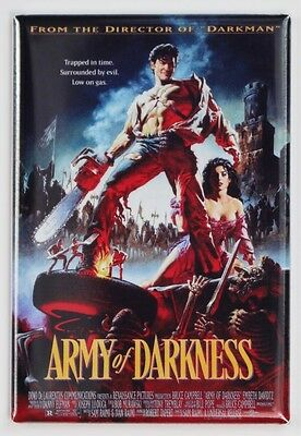 Army of Darkness Movie Poster FRIDGE MAGNET Cult Classic Evil Dead Ash Bruce Cam