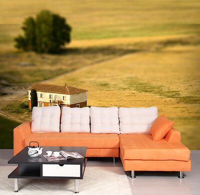 3D Grassland House 1125 WallPaper Murals Wall Print Decal Wall Deco AJ WALLPAPER